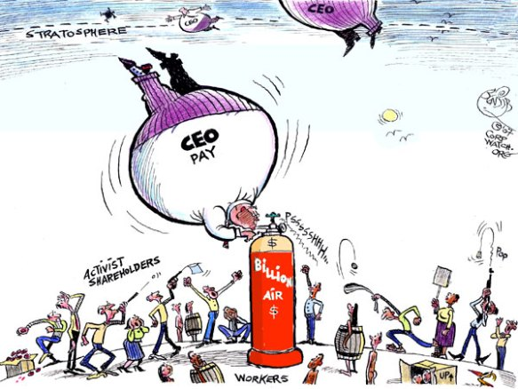 CEO pay in the USA, cartoon