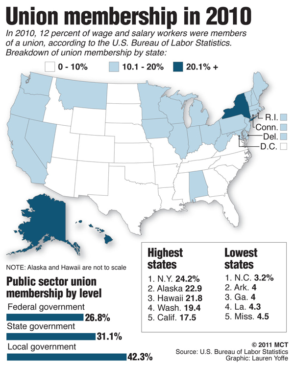 Labor Union States Map.United States Occasional Links Commentary Page 401