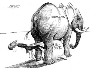 karikatur für tribüne-mit letzte kraft