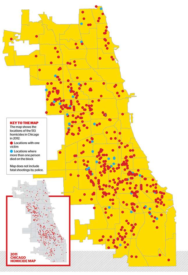 Map Of The Day Occasional Links Commentary - Chicago map location