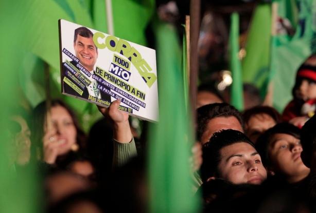 APTOPIX Ecuador Elections