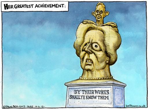 Blair and Thatcher, cartoon