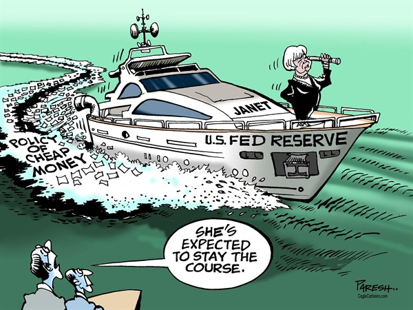 Image result for cartoon Yellen vs Trump