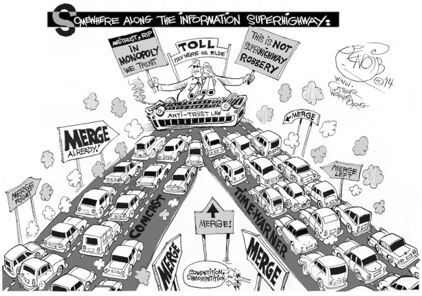 comcast-time-merger-information-superhighway-toll-cartoon
