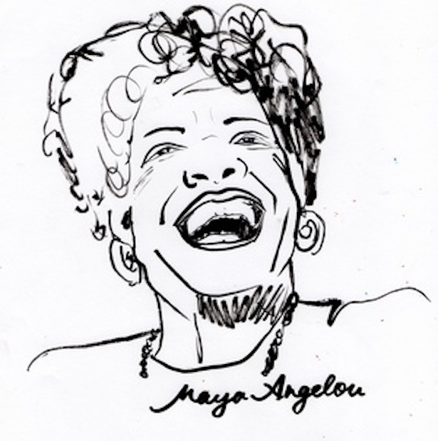 Maya Angelou Coloring Sheet Coloring