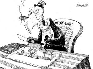 karikatur für tribüne-mahl