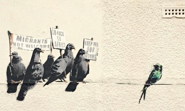 Banksy pigeons