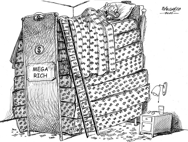 karikatur für tribüne-dicke matratze