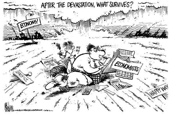 61393_Economists-Survive-by-Mike-Lane-Cagle-Cartoons