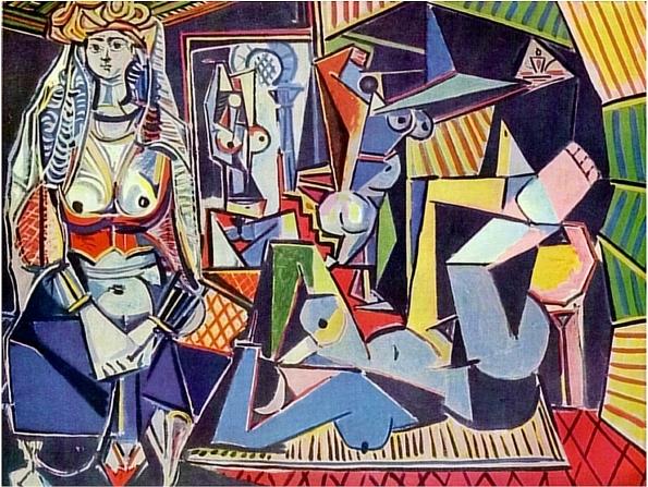 Les-femmes-dAlger-daprès-Delacroix-XV-Paris-14-Fevrier-1955-huile-sur-toile114-x-146-cm-collection-privée-Europe