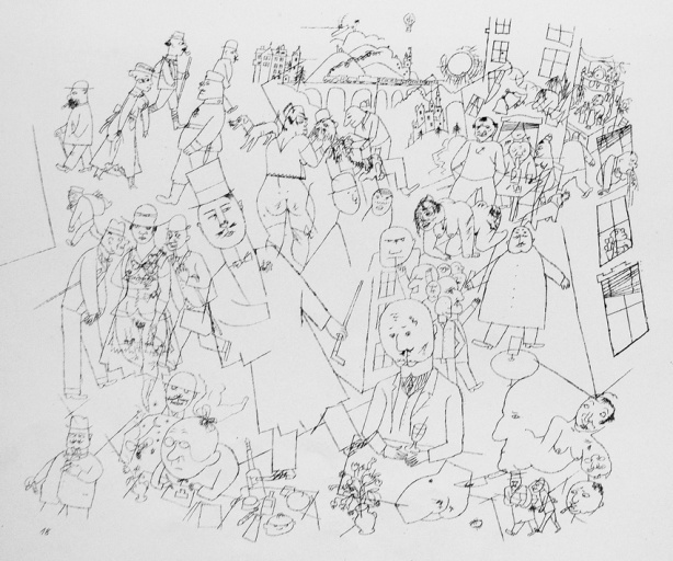 "George Grosz, ""Bürgerliche Welt/ World of the Bourgeoisie"" (1922)"