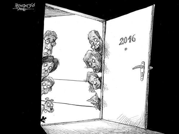 karikatur für tribüne-neue zimmer