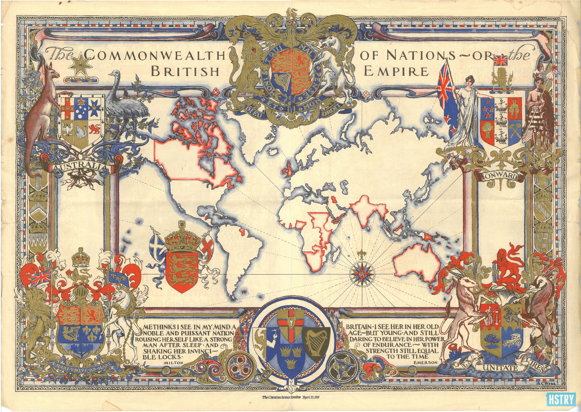 British+Empire+Map