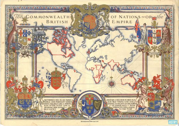British+Empire+Map