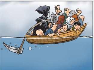 malcolm-mayes-editorial-cartoon-showing-grim-reaper-piloting