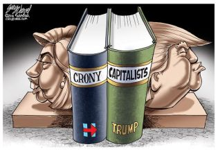 Cartoonist Gary Varvel: Hillary and Trump bookends