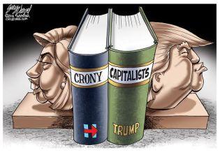 Cartoonist Gary Varvel: Hillary and Trump bookends