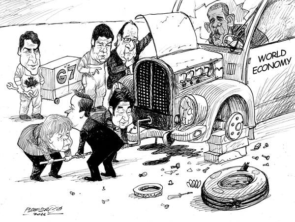 karikatur für tribüne-sorgenfal