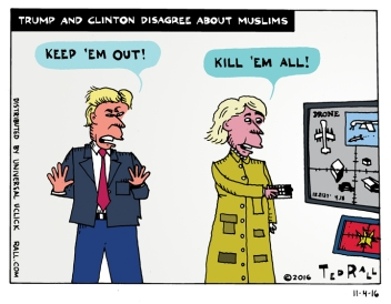 Trump and Clinton Disagree About Muslims