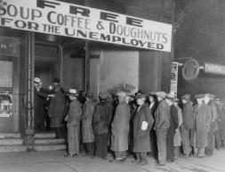 Men Waiting Outside Al Capone Soup Kitchen