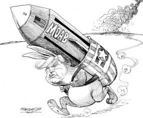 karikatur für tribüne- Osterhase