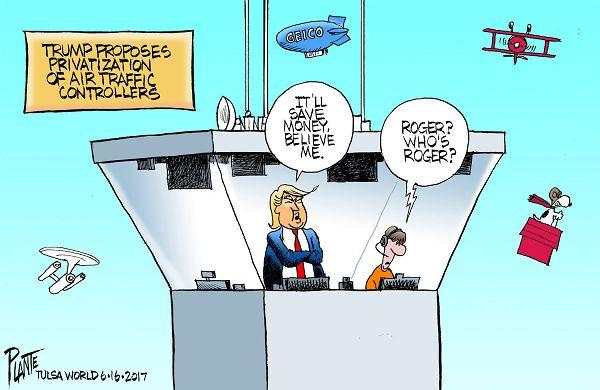 Air Control Cartoon Traffic Privatization