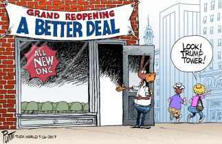 Bruce Plante Cartoon: The Democratic Party Restart