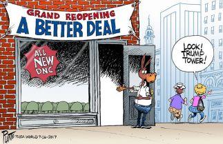 Bruce Plante Cartoon: The Democratic Party Restart