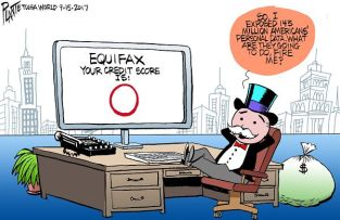 Bruce Plante Cartoon: Equifax