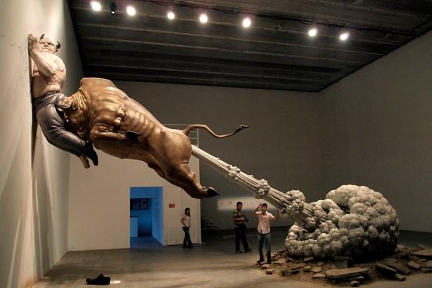 China Financial Crisis Art