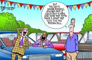 Bruce Plante Cartoon: Your tax cut