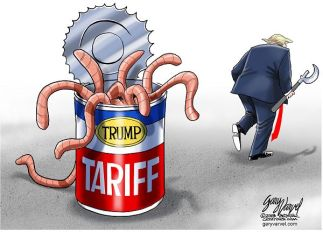 Cartoonist Gary Varvel: Trump's tariff can of worms
