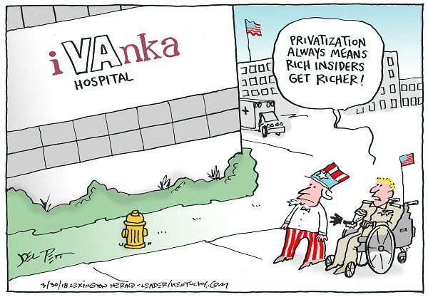 Image result for cartoons of VA BEING PRIVATIZED