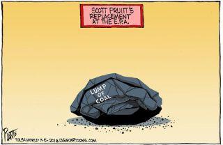 Bruce Plante Cartoon: Scott Pruitt's replacement