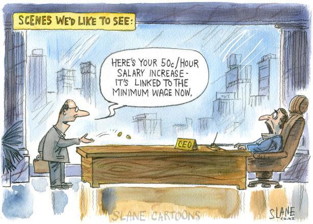 CEO Salary Linked To Minimum