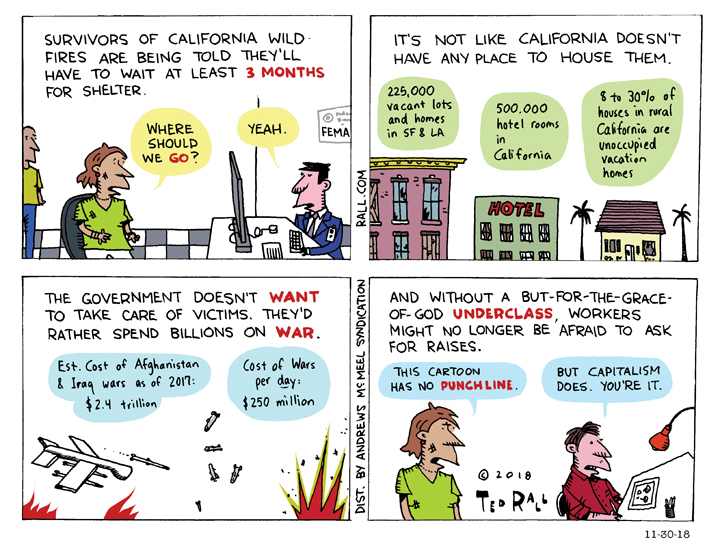 California Wildfire Victims As Martyrs to Capitalism