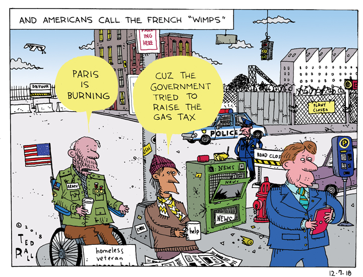 """Americans Call Them """"Wimps"""" But It's the French Who Burn Cities"""