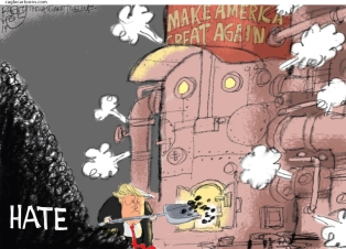 2_political_cartoon_u.s._trump_maga_machine_powered_by_hate_-_pat_bagley_cagle