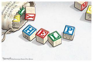 Bennett editorial cartoon