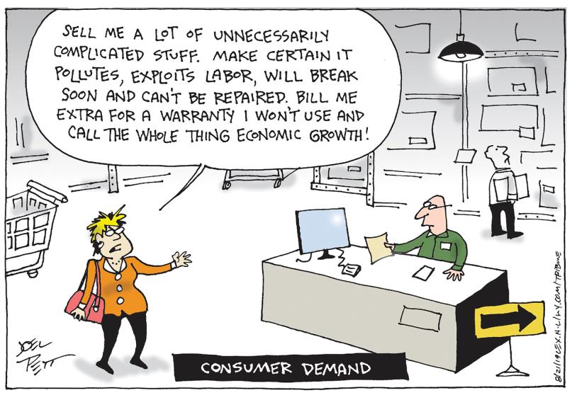 11_political_cartoon_u.s._consumer_demand_pollution_labor_exploitation_economy_-_joel_pett_tribune