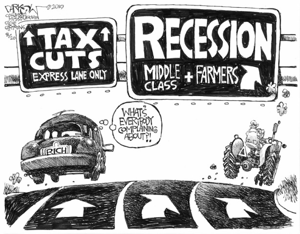 5_political_cartoon_u.s._tax_cuts_for_the_rich_economic_recession_hurts_middle_class_-_john_darkow_cagle