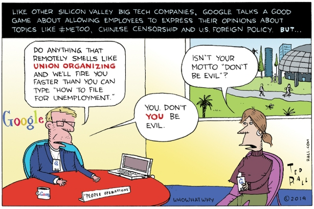 Google to Employees: Don't Be Evil to Us